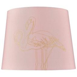 Senčnik Za Svetilko Golden Couple - roza, Trendi, tekstil (20cm) - Modern Living
