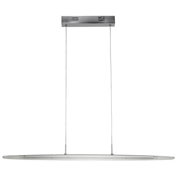 Pendelleuchte Vivian mit Led 4-flammig - Chromfarben, MODERN, Glas/Metall (93/14/120cm) - Premium Living