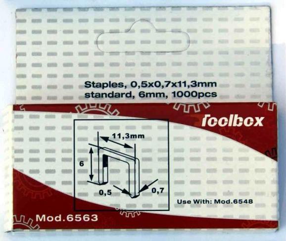 Tűzőkapocs 1000 Db/csomag - konvencionális (8x8x2cm)