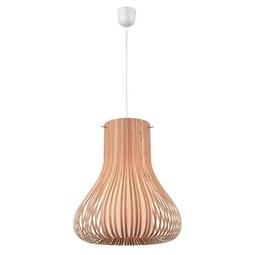 Viseča Svetilka Ambramo - rjava, Moderno, les (33cm) - Modern Living