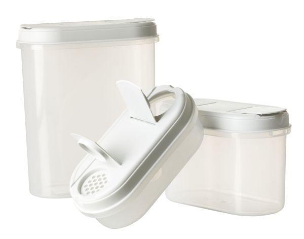 Tárolódoboz Ellery - áttetsző/fehér, műanyag (2,2 1,1 0,l) - MÖMAX modern living