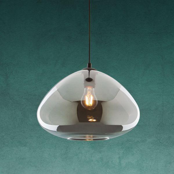 Hängeleuchte Santiago   Schwarz, MODERN, Glas/Metall (30/175cm)