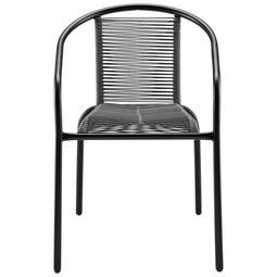 Stapelstuhl Bruna Dunkelgrau - Dunkelgrau, MODERN, Kunststoff/Metall (52/76/55cm) - MODERN LIVING