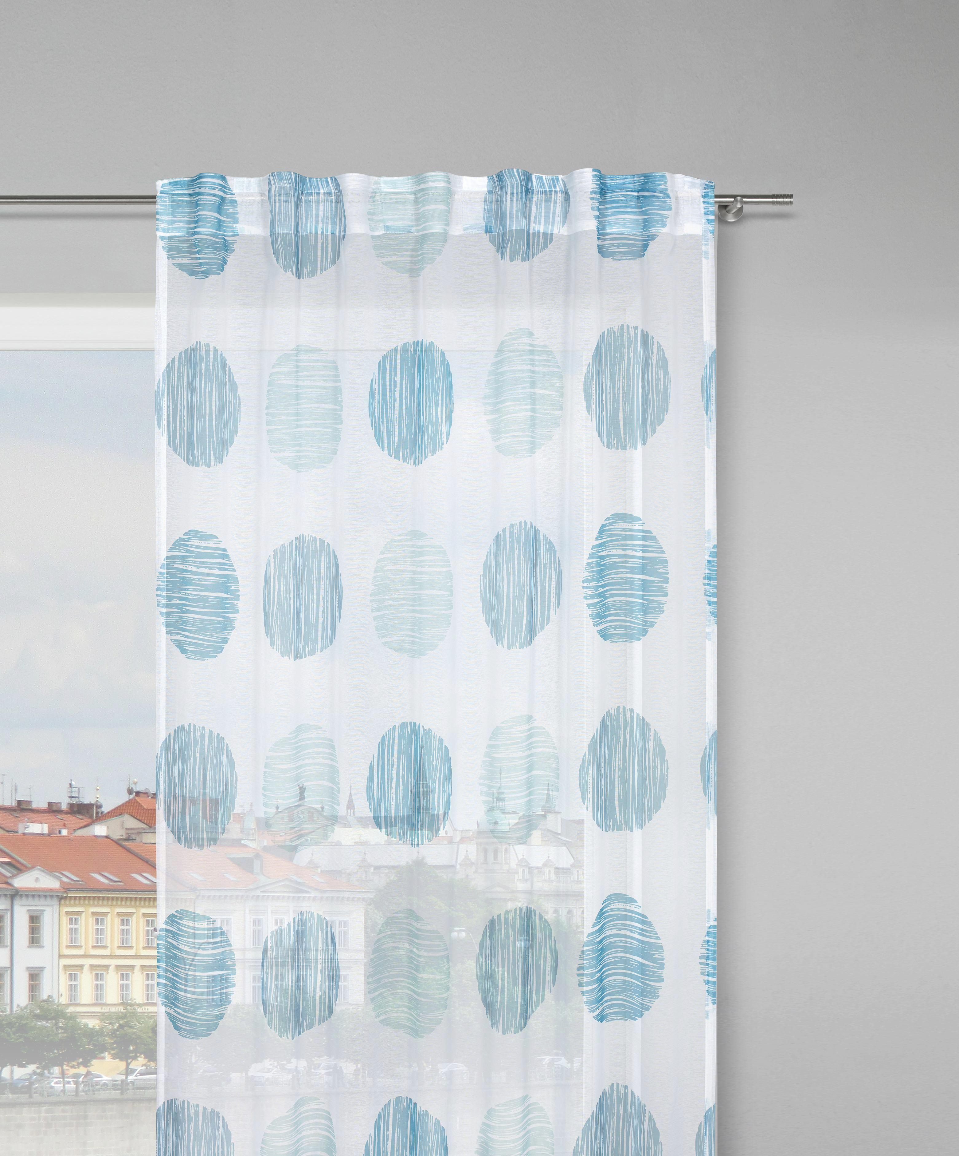Schlaufenschal Ursi, ca. 135x245cm - Türkis/Weiß, KONVENTIONELL, Textil (135/245cm) - MÖMAX modern living