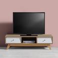TV-Element in Pinienfarben/ Weiß 'Enny' - Weiß/Pinienfarben, MODERN, Holz/Metall (120/34/35cm) - Bessagi Home
