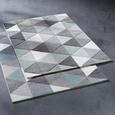 Webteppich Rom Blau/Grau 80x150cm - Blau/Grau, Textil (80/150cm) - Mömax modern living