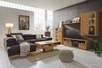 Funkcijka Sedežna Garnitura Carmen - temno siva/črna, Konvencionalno, kovina/tekstil (226/292cm) - Zandiara