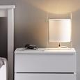 Tischleuchte max. 40 Watt 'Graham' - Silberfarben, MODERN, Textil/Metall (16/15/25cm) - Bessagi Home