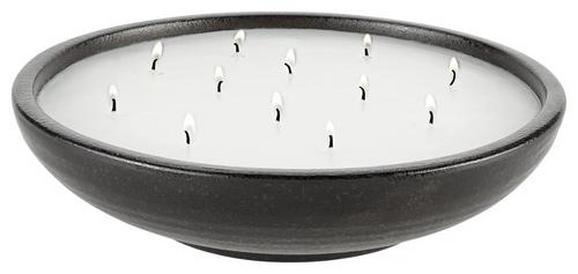 Kerze Im Topf Ian in Schwarz/Weiß - Schwarz/Weiß, LIFESTYLE, Keramik (30/7,5cm) - Mömax modern living