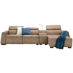 Canapea Modulară Bondi - maro, Modern, plastic/lemn (309/74-92/170cm) - Mömax modern living