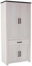 Garderobna Omara Provence - bron/wenge, Moderno, kovina/leseni material (98/200/42cm) - Zandiara