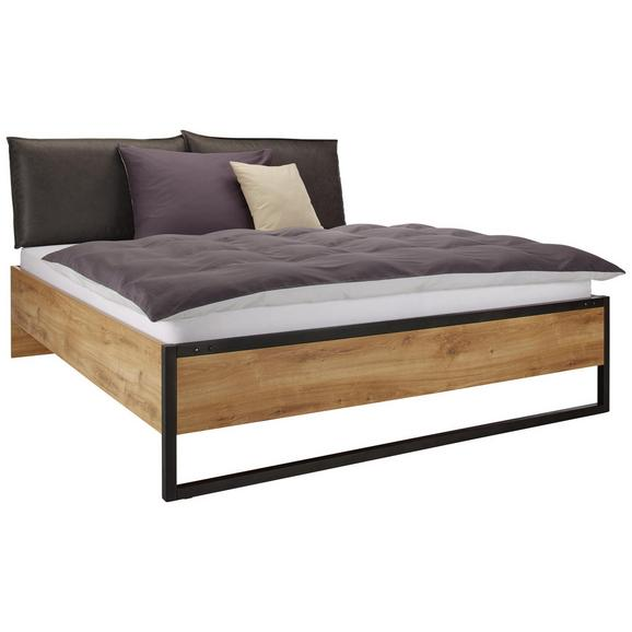 bett plankeneiche schwarz 180x200cm online kaufen m max. Black Bedroom Furniture Sets. Home Design Ideas