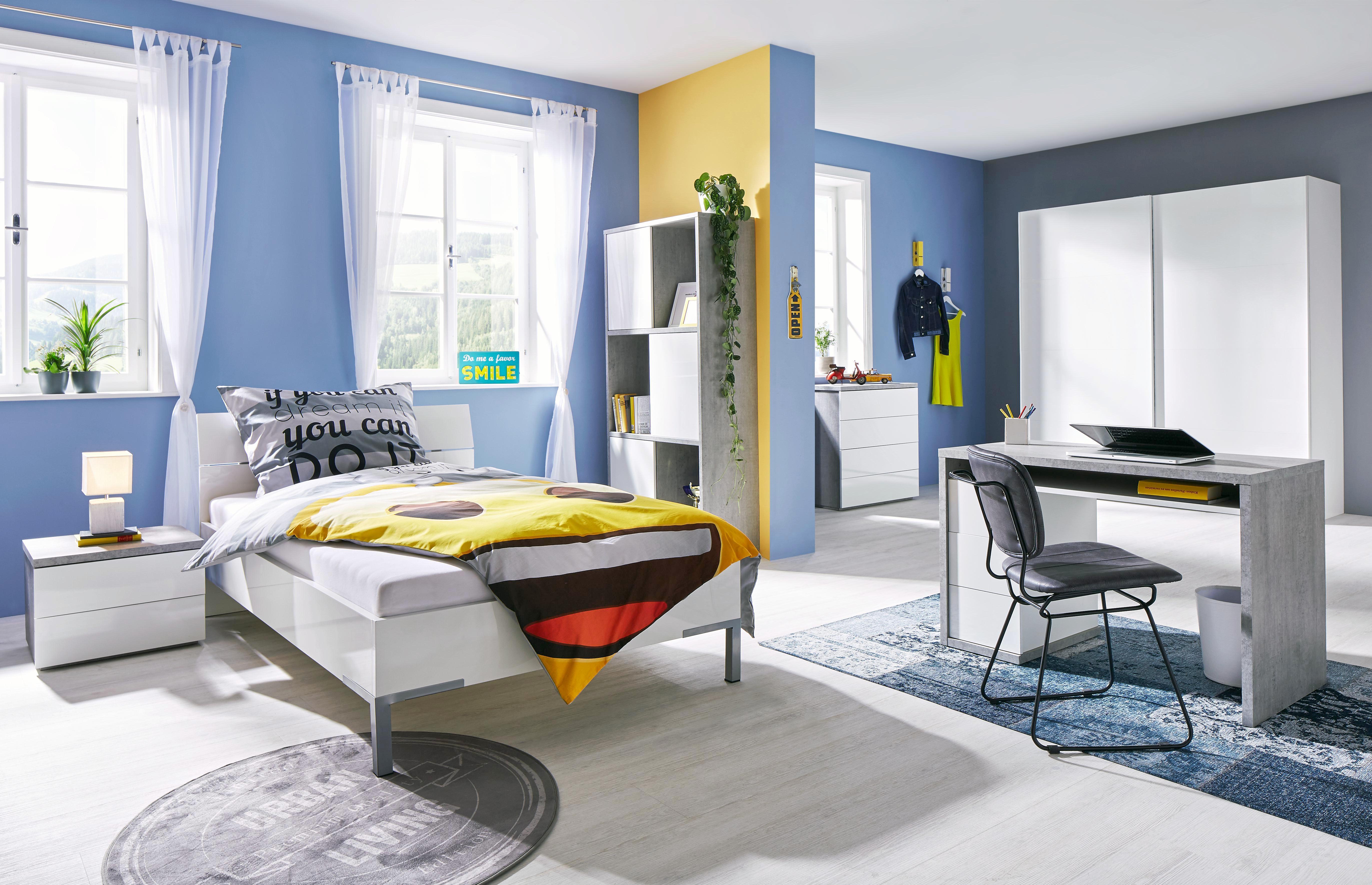 Kinder-/Juniorbett in Weiß ca. 120x200cm - (126/87/212cm) - MODERN LIVING