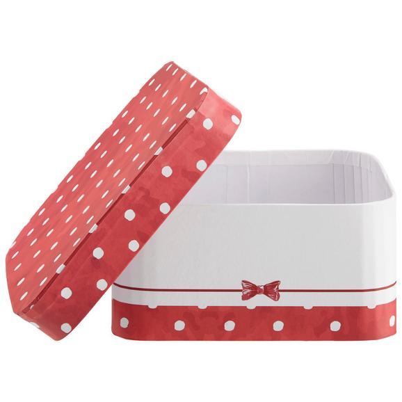 Cutie Pentru Cadouri Bow - alb/roșu, Modern, carton/hârtie (12/12/6cm) - Modern Living