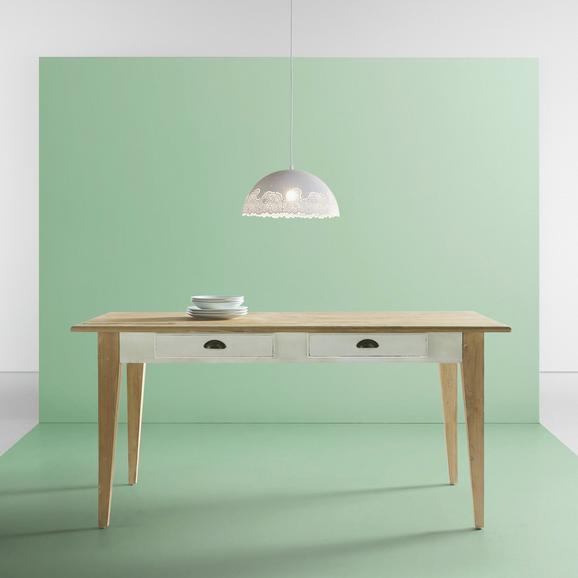 Esstisch Nicolo 160x80cm - Naturfarben/Weiß, MODERN, Holz (160/80/78,5cm) - MODERN LIVING
