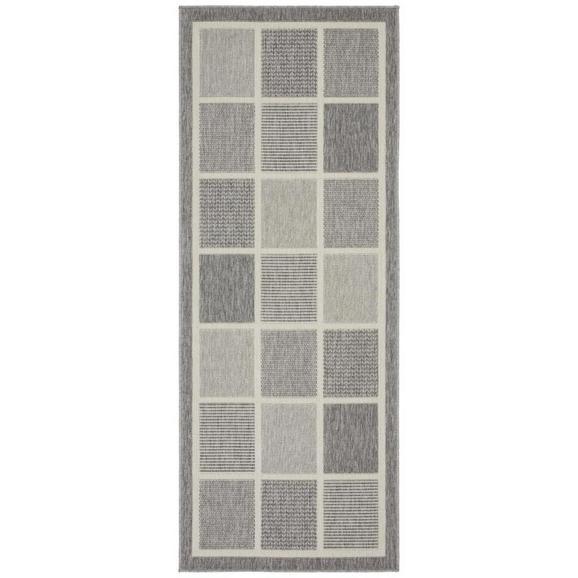 Flachwebeteppich Minnesota in Grau ca.80x200cm - Grau, MODERN, Textil (80/200cm) - Modern Living