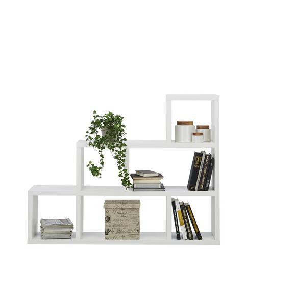 Raumteiler Weiß - Weiß, MODERN, Holzwerkstoff (155/117/35cm) - Mömax modern living