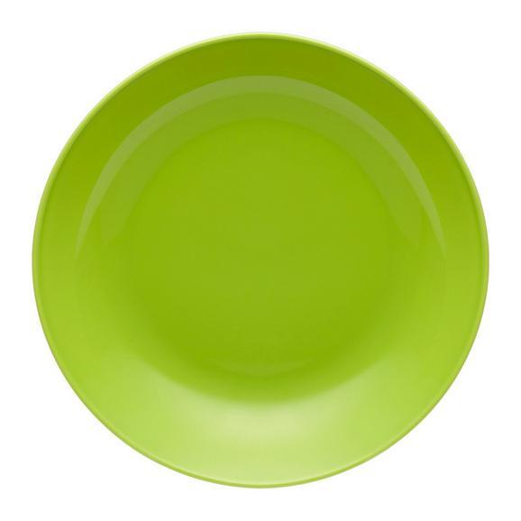 Suppenteller Sandy aus Keramik Ø ca. 20cm - Grün, KONVENTIONELL, Keramik (20/3,5cm) - Mömax modern living