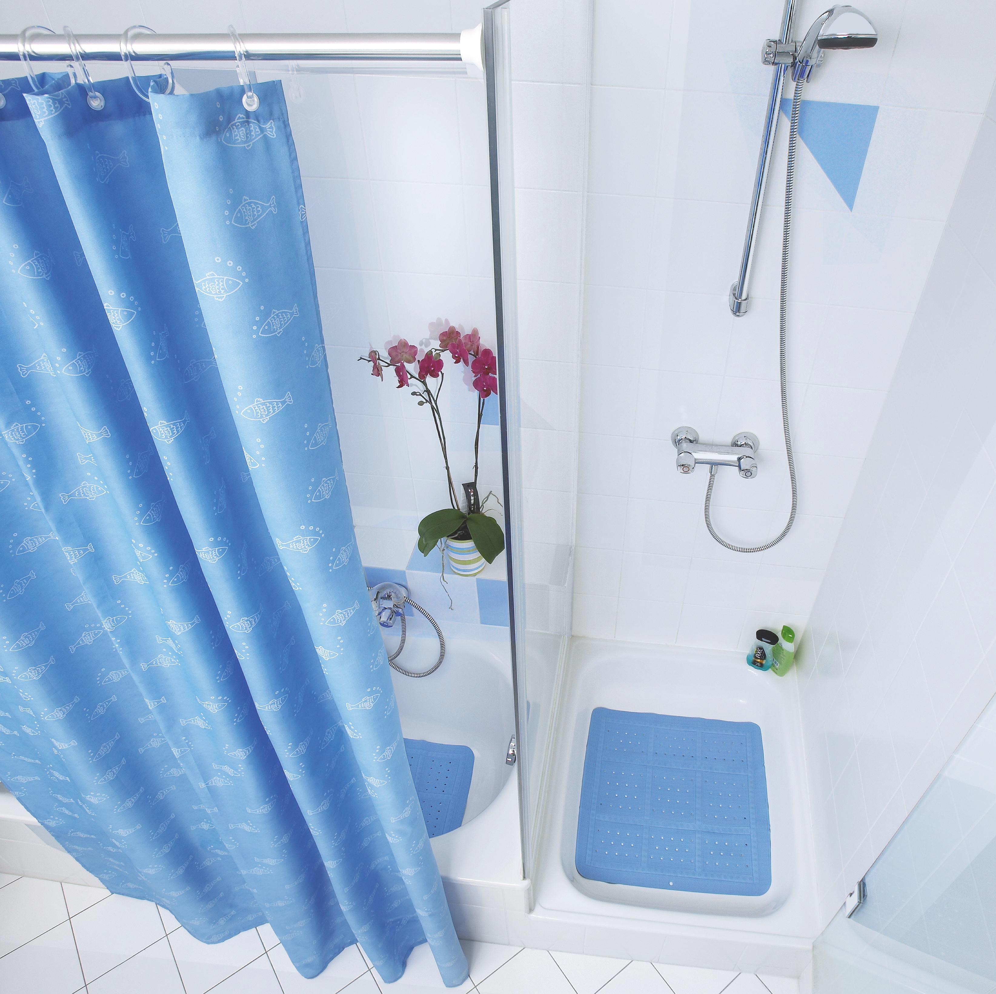 Zuhanyfüggöny Rúd Ezüst Színű, Fém - ezüst színű, konvencionális, fém (125cm)
