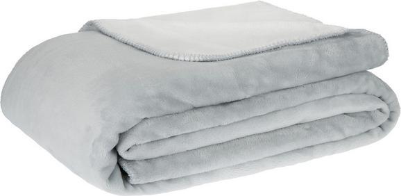 Kuscheldecke XXL Like Wende in Grau/Weiß - Weiß/Grau, ROMANTIK / LANDHAUS, Textil (220/240cm) - MÖMAX modern living