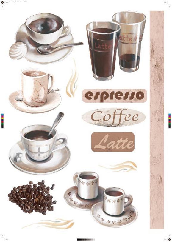 Falmatrica Kávé Motívum - barna, műanyag (50/70cm) - MÖMAX modern living