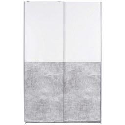 Omara Z Drsnimi Vrati Victoria 1 - aluminij/siva, Moderno, kovina/leseni material (125/196/62cm) - Mömax modern living