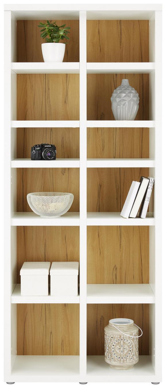 Regal Weiß/Eichefarben - Eichefarben/Weiß, MODERN, Holzwerkstoff/Kunststoff (78/192/37cm)