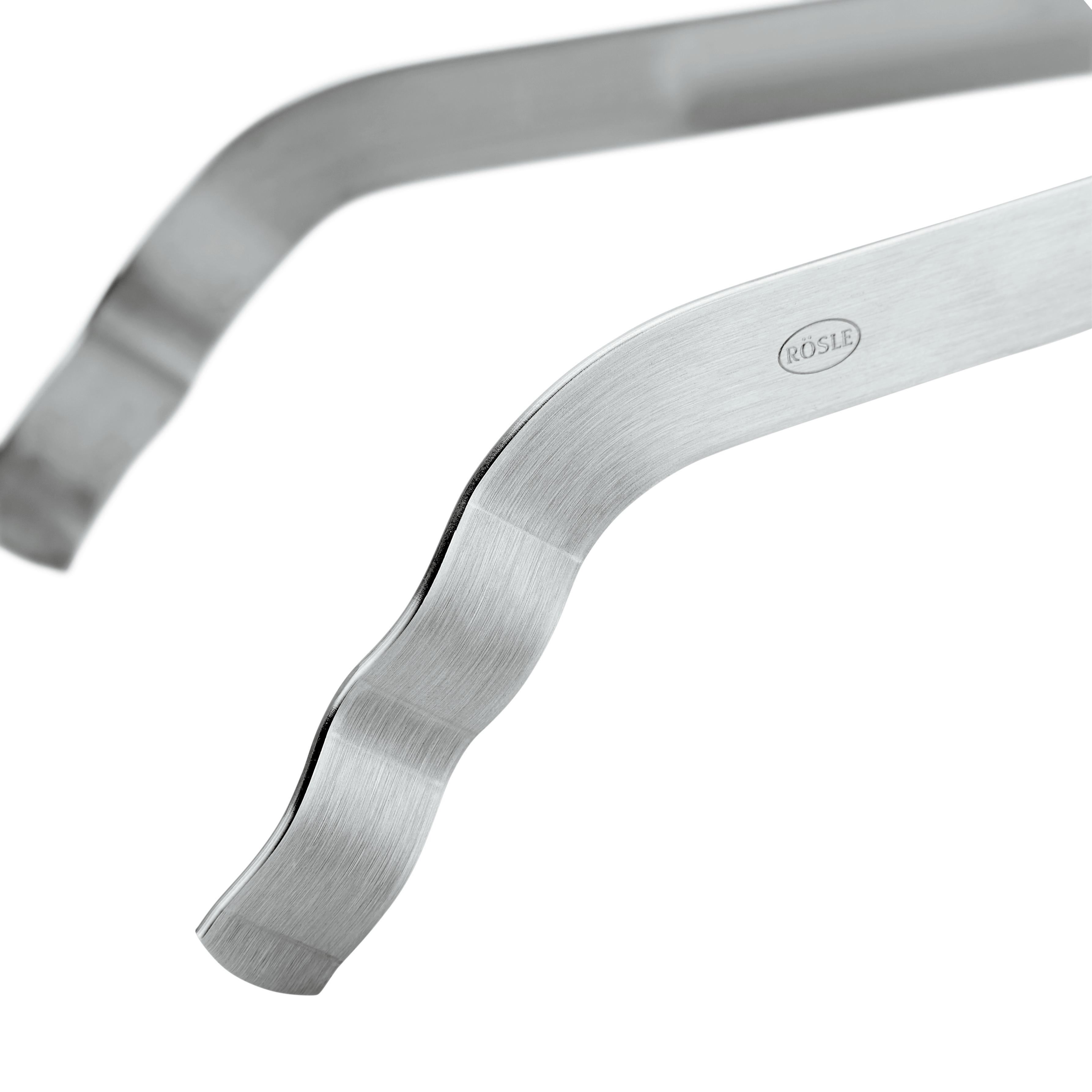 Grillzange Rösle - Edelstahlfarben, KONVENTIONELL, Metall (35,5/5/8cm) - RÖSLE