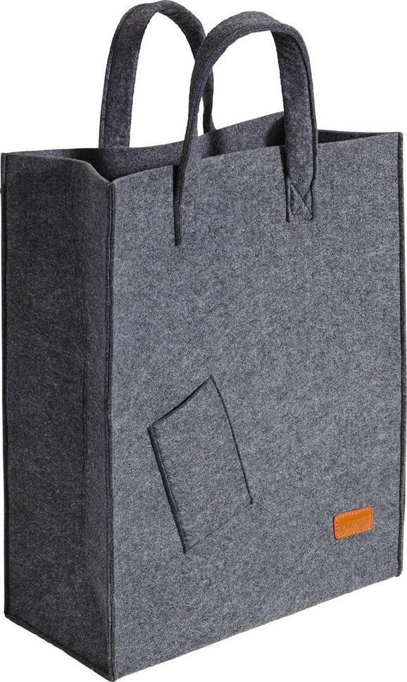 Einkaufstasche Elias ca.40x50cm - Dunkelgrau, Textil (40/20/50cm) - Mömax modern living