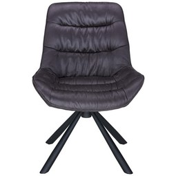 Stuhl in Grau/Schwarz - Schwarz/Grau, MODERN, Textil/Metall (57,5/85/64cm) - Modern Living