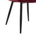 Stuhl Valentine - Rot/Schwarz, MODERN, Holz/Textil (66/92/47cm) - Mömax modern living