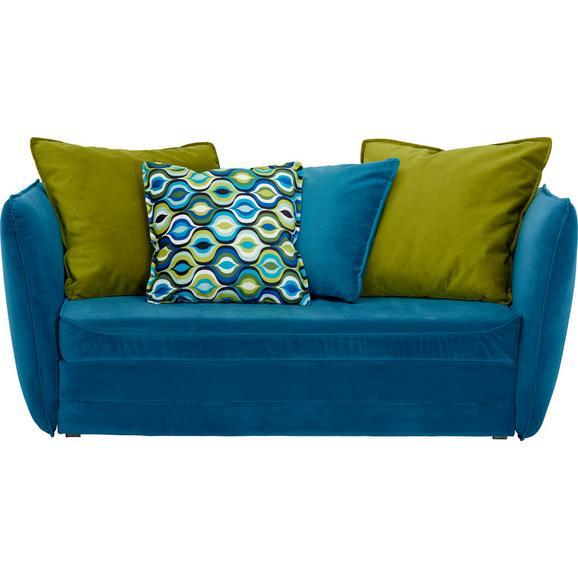 Gyermek- és ifjúsági kanapé Kids - Zöld/Kék, Design, Textil (145/63-77/75cm) - Ti`me