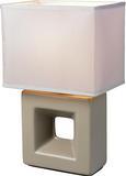 Asztali Lámpa Quadro - Taupe, Kerámia/Textil (17/12/28cm) - Mömax modern living
