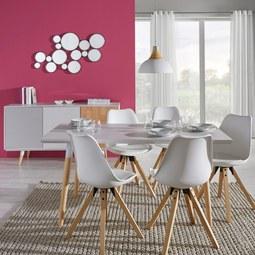 Tisch Evlyn Ca.160x80cm   Hellgrau/Naturfarben, MODERN, Holz/Metall (