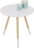 Beistelltisch in Weiß/Natur - Naturfarben/Weiß, MODERN, Holz/Holzwerkstoff (48/46/48cm) - Mömax modern living