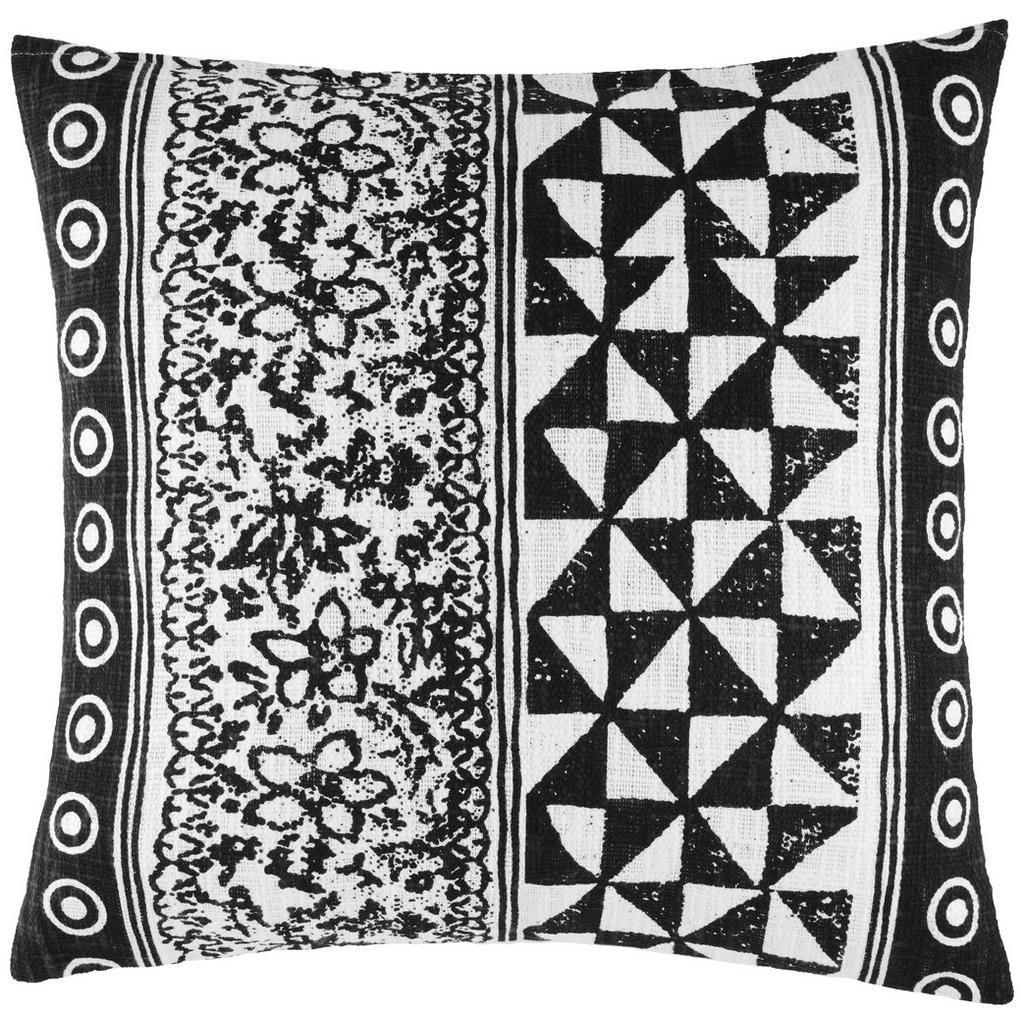 Zierkissen Harare Schwarz/Weiß 45x45cm