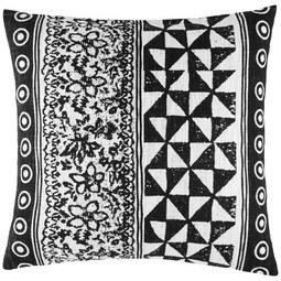 Zierkissen Harare Schwarz/Weiß 45x45cm - Schwarz/Naturfarben, LIFESTYLE, Textil (45/45cm) - Mömax modern living