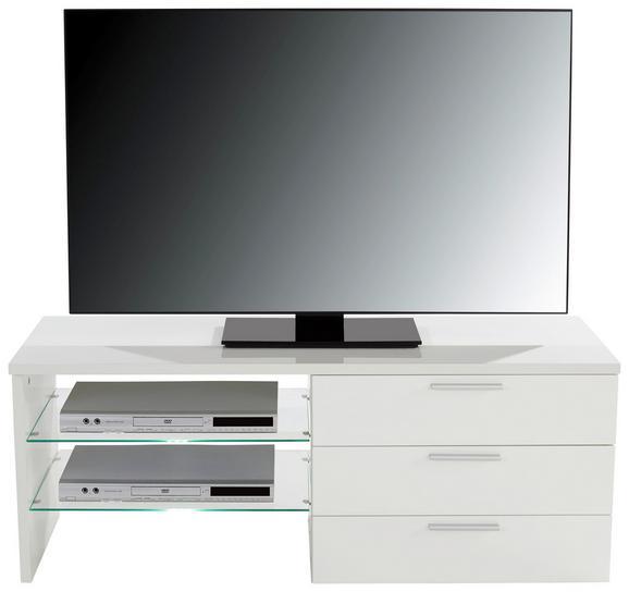 Mizica Za Hi-fi Naprave Merlin Ii - aluminij/bela, Moderno, kovina/leseni material (118,4/47/39,6cm) - Mömax modern living