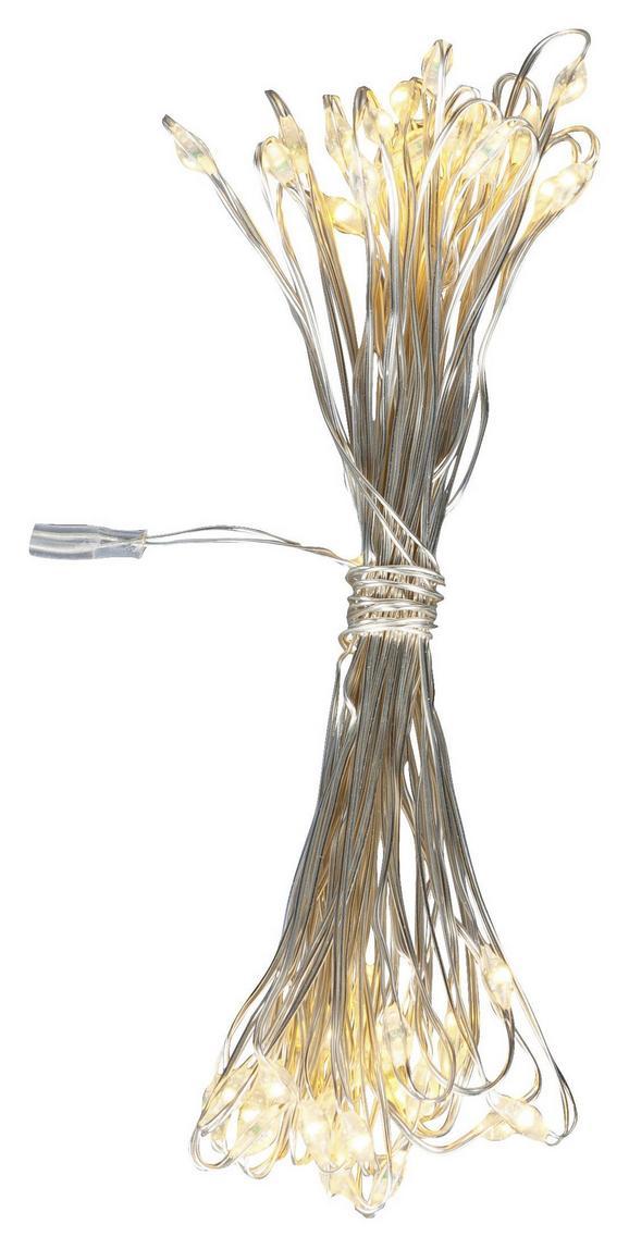 Lichterkette Sterni in Silber - Silberfarben, Kunststoff (195cm) - Mömax modern living