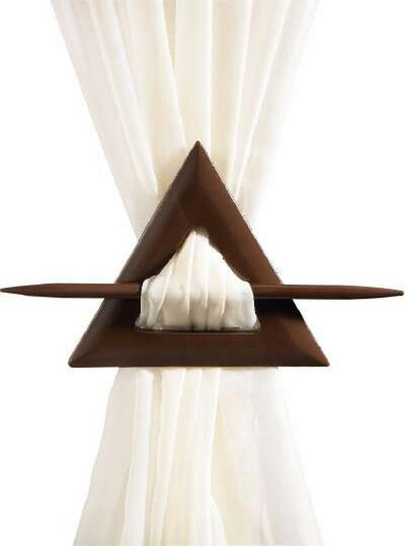 Függönyelkötő Holz - barnásszürke/antracit, konvencionális, fa (4,6cm) - Mömax modern living