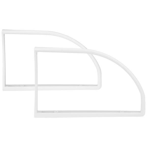 Stenski Nosilec Biblo - bela, umetna masa (27/2,5/18cm) - Mömax modern living