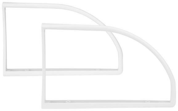 Wandhalter Weiß - Weiß, Kunststoff (27/2,5/18cm) - Mömax modern living