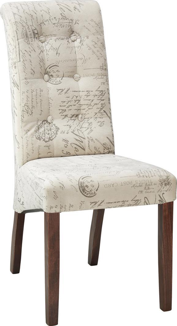 Stol Selena - siva/krem, Romantika, les (48/102/50cm) - Zandiara