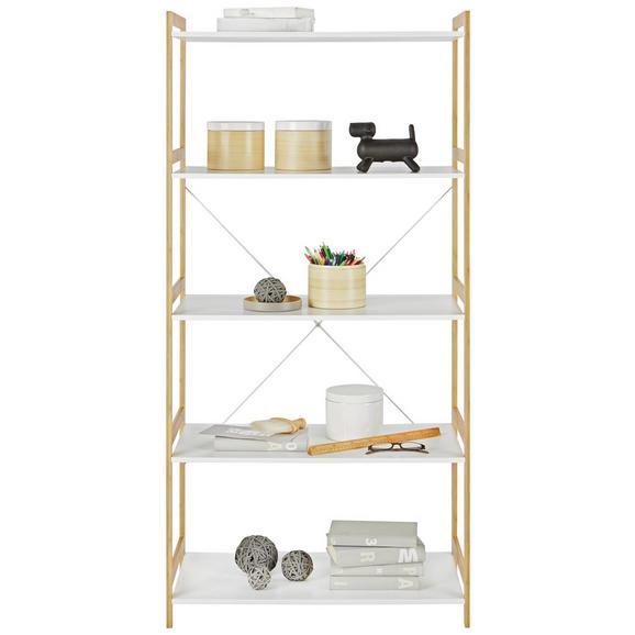 Regal Weiß/Natur - Naturfarben/Weiß, MODERN, Holz/Holzwerkstoff (70/148/35cm) - Mömax modern living