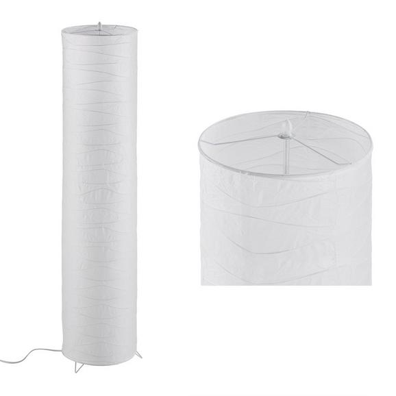 Lampadar Francesco - Culoare crom/Alb, Konventionell, Hârtie/Metal (27,5/120cm) - Based