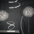 Tischleuchte Reggie mit Led - Silberfarben/Weiß, MODERN, Kunststoff/Metall (26/26/35cm) - Modern Living