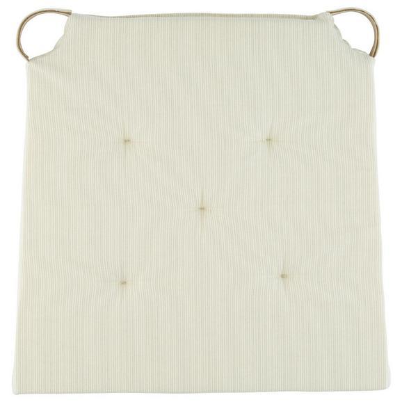 Sitzkissen Nina in Beige ca. 40x36cm - Beige, Textil (40/36/3,5cm) - Mömax modern living