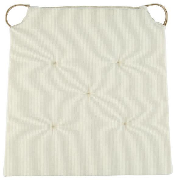 Ülőpárna Nina - Bézs, Textil (40/36/3,5cm) - Mömax modern living