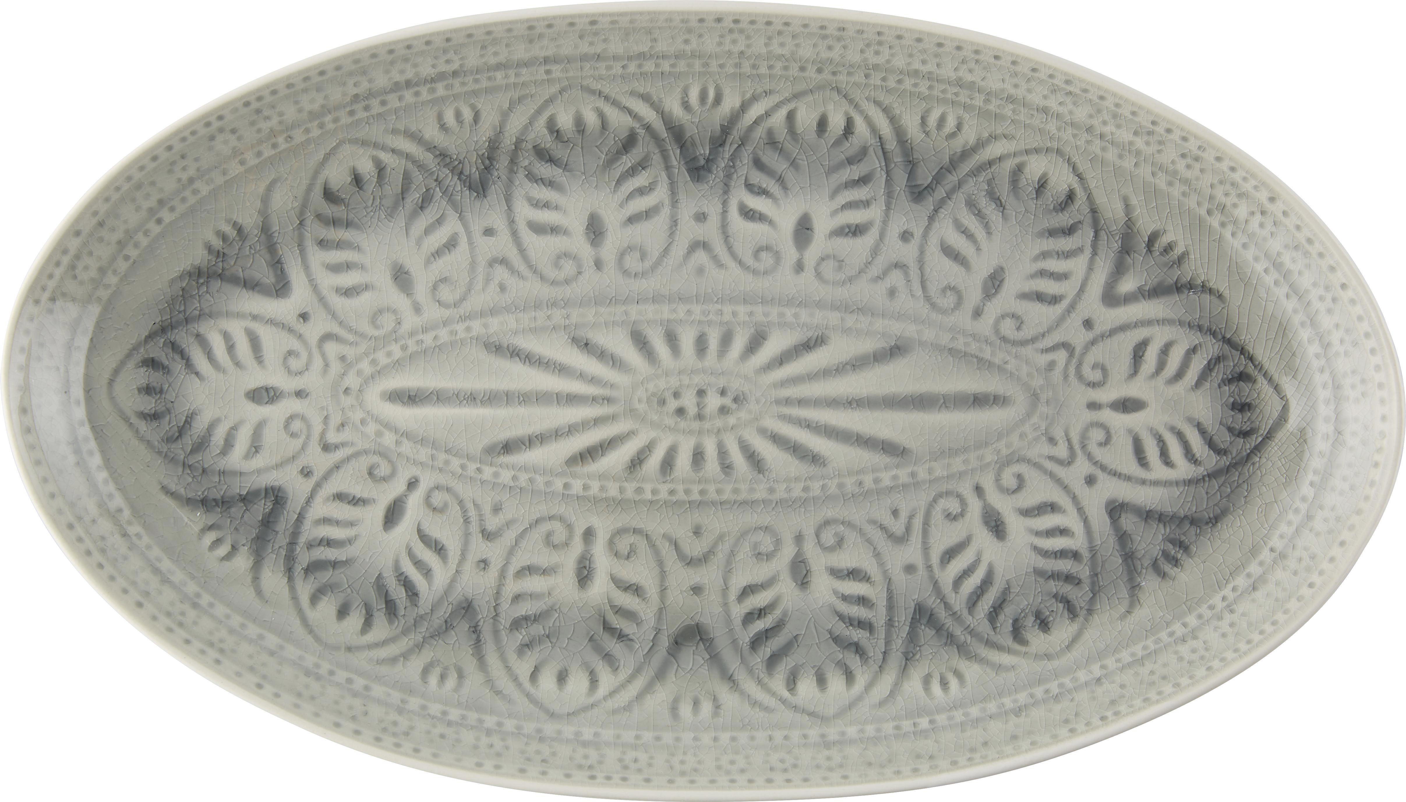 Pladenj Panja - siva/bela, Trendi, keramika (27/8,5cm) - MÖMAX modern living