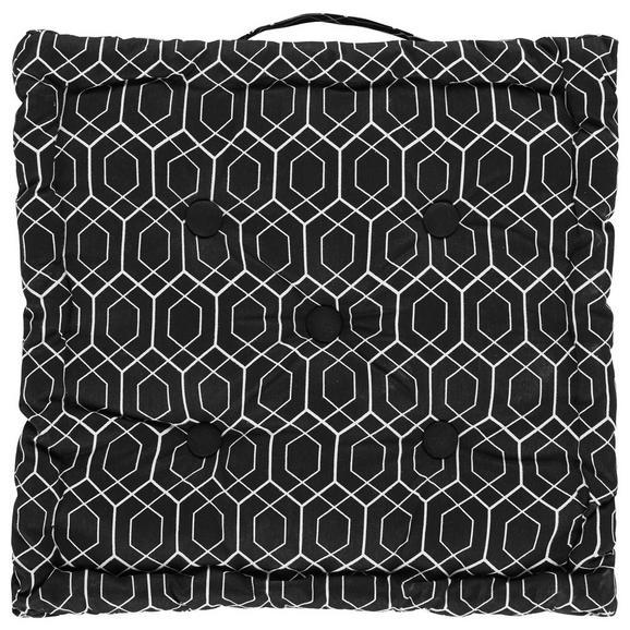 Boxkissen Blacky in Schwarz/Weiß - Schwarz/Weiß, LIFESTYLE, Textil (40/40/8cm) - Mömax modern living